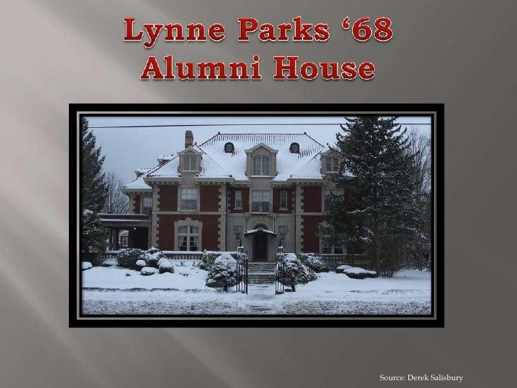Lynne Parks '68Alumni House<br />Source: Derek Salisbury<br />