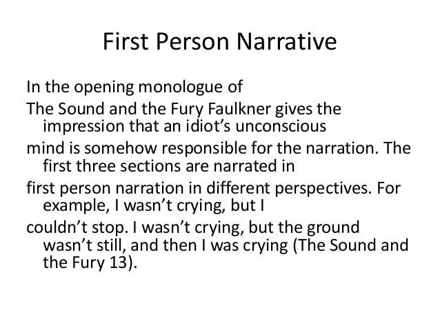 a narrative essay is told from a particular point of view Free narrative in grendel's point of view strong essays: profound narrative point of view in f the story is told in the realistic point of view of.