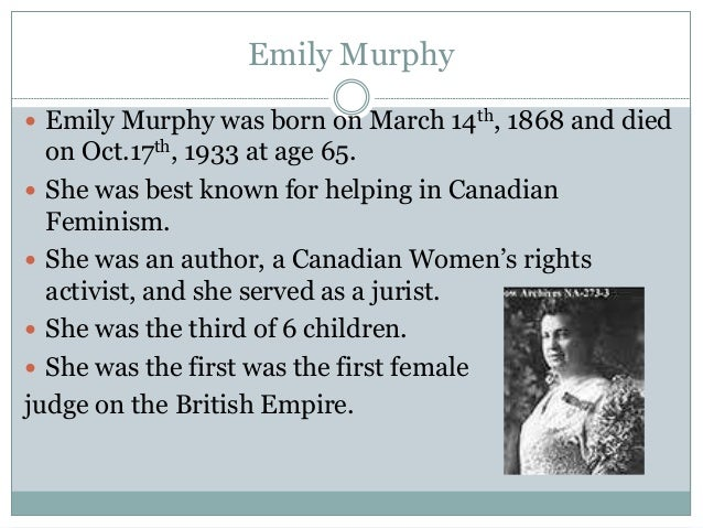 a biography of henrietta muir edwards one of albertas famous five women Mcclung and four other women: henrietta muir edwards,  biography nellie mcclung  //wwwtheglobeandmailcom/news/national/albertas-famous-five-named.