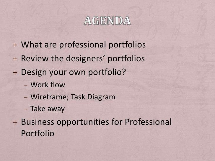 Design and Develop Professional Portfolio Slide 2