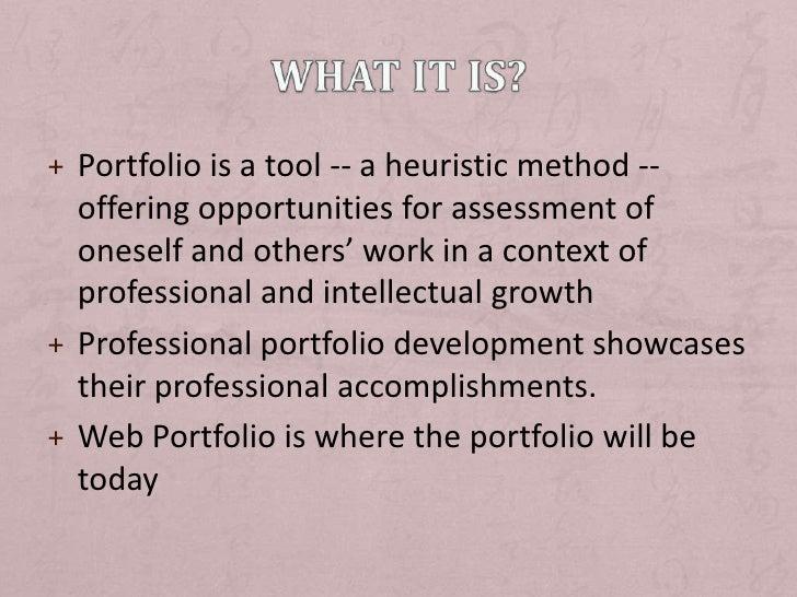 Design and Develop Professional Portfolio Slide 3