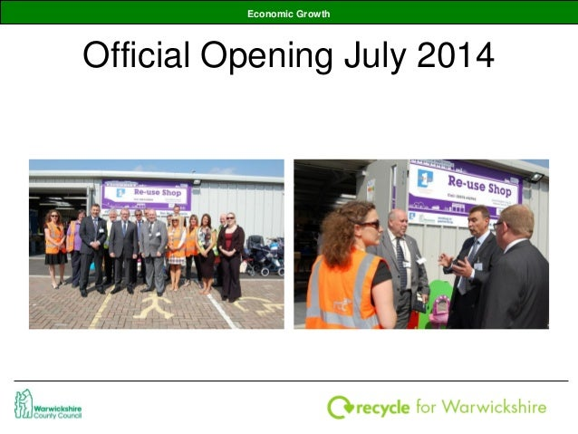Promoting re use at household waste recycling centres for Household waste recycling centre design