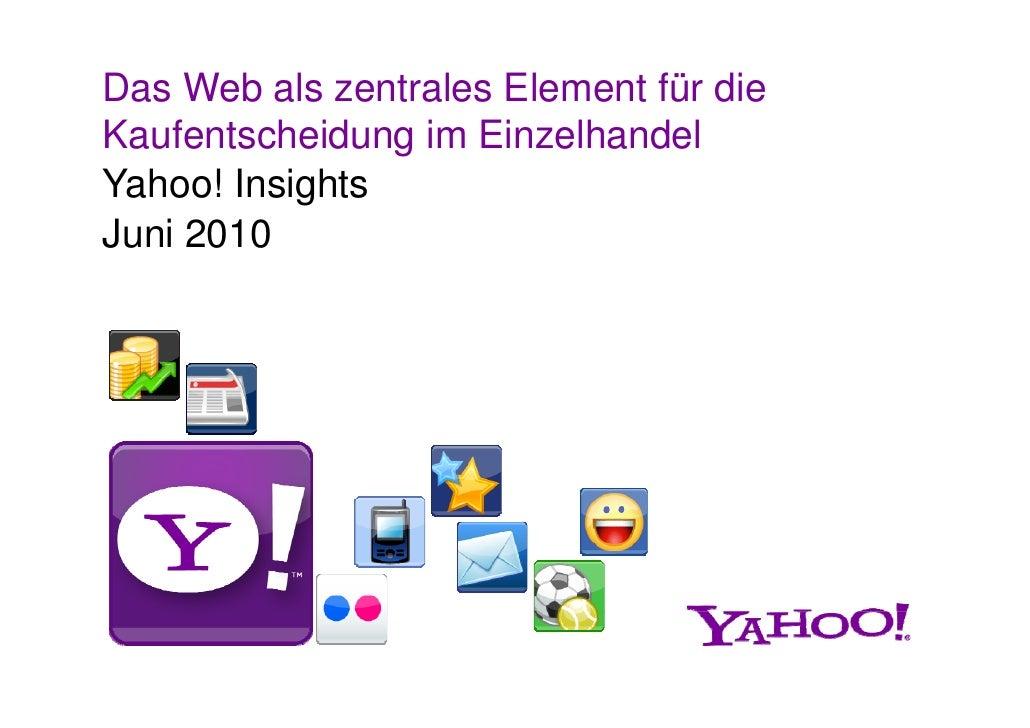 Yahoo!-Einzelhandelsstudie
