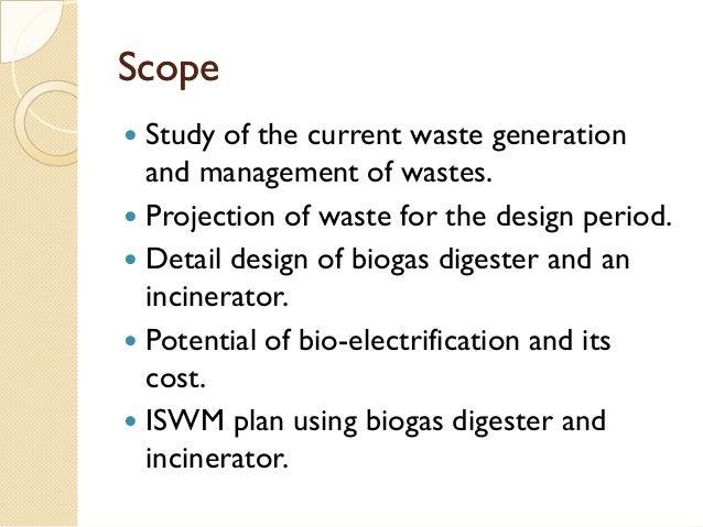 Proposed methodology of biogas