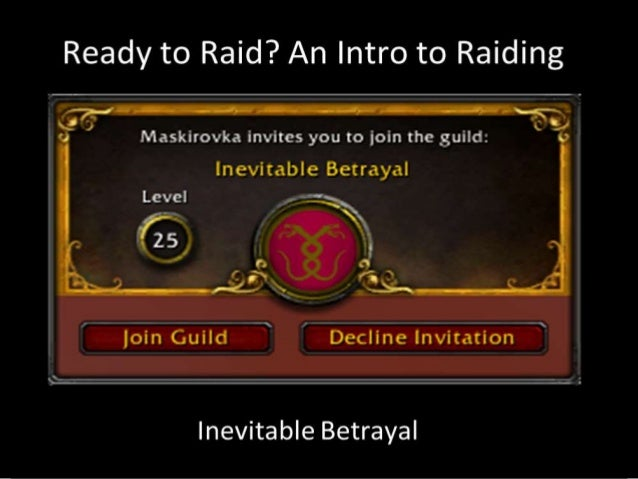 WHAT IS A RAID?Raids are the end game content for eachupgrade in World of WarcraftThey show up at:Lvl 60: Classic WoW - Mo...