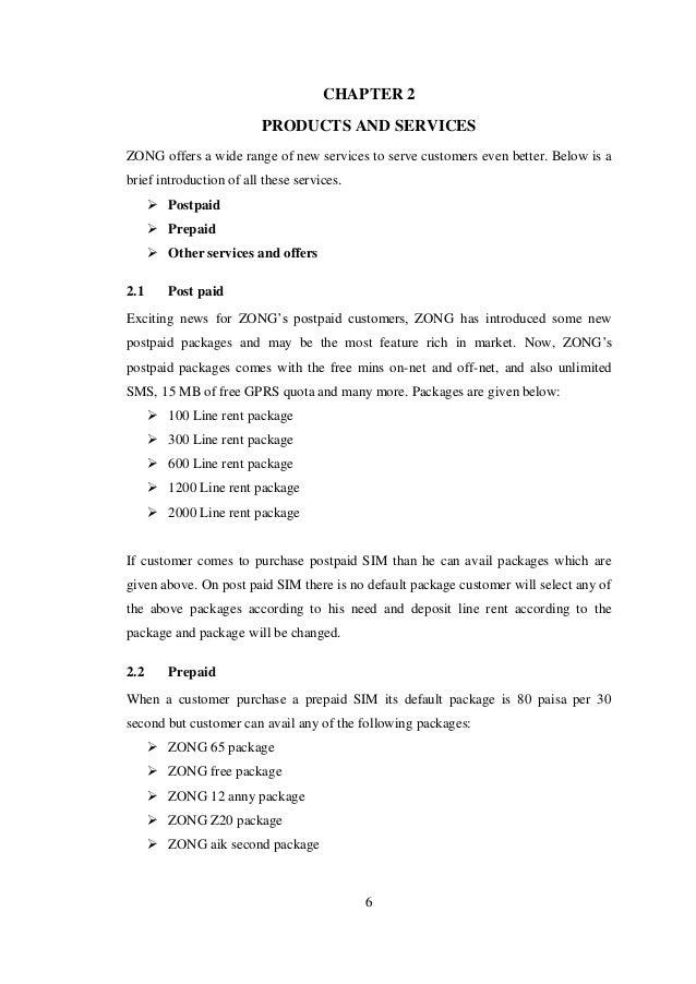 ZONG Internship Report
