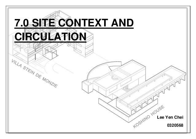 Koshino House Site Plan Plans