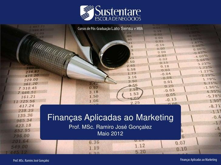 Cursos de Pós-Graduação Lato Sensu e MBA                             Finanças Aplicadas ao Marketing                      ...