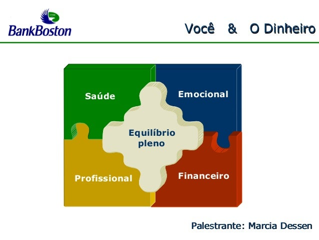 Você & O DinheiroVocê & O Dinheiro Saúde Emocional Equilíbrio pleno Profissional Financeiro Palestrante: Marcia DessenPale...
