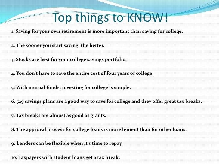 college Education Financing Slide 2