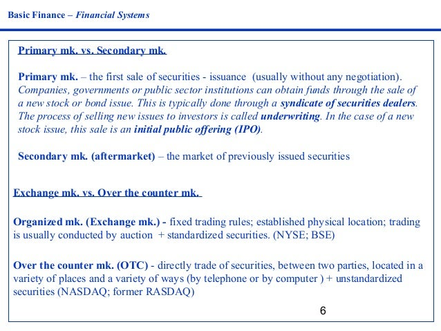 Is an ipo primary or secondary