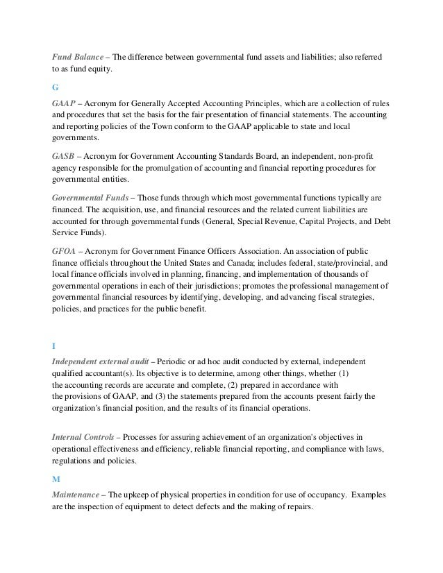 Finance Department COSO Implementation Memo