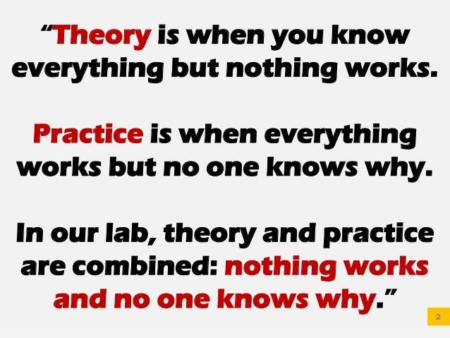 Janganlah Alergi Dengan Teori