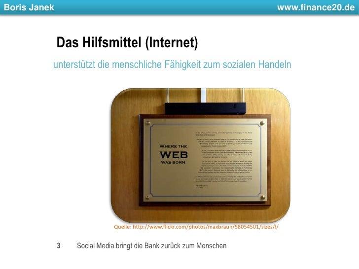 Das Hilfsmittel (Internet)<br />unterstützt die menschliche Fähigkeit zum sozialen Handeln<br />3<br />Social Media bringt...