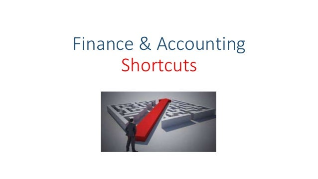 Finance & Accounting Shortcuts