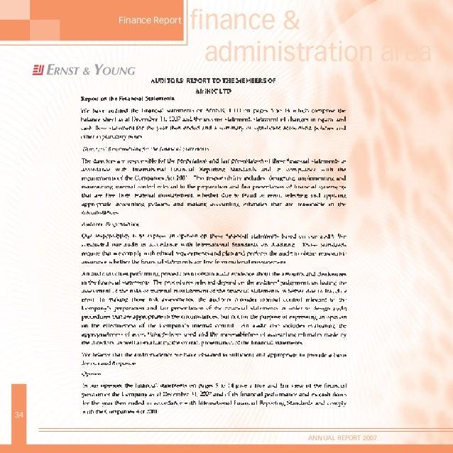 33 ANNUAL REPORT 2007 4
