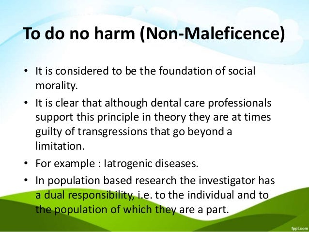 harm principles and limitations Together, these harm reduction and community-building principles guided the development of the services and programs that now constitute the community model these principles form the foundation of a comprehensive service philosophy that.