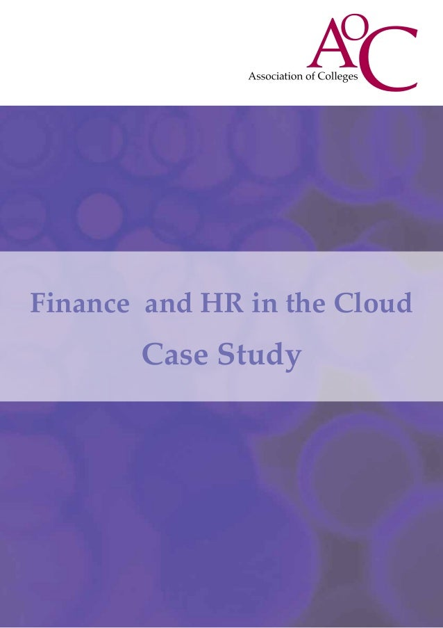 Finance and HR in the CloudCase Study