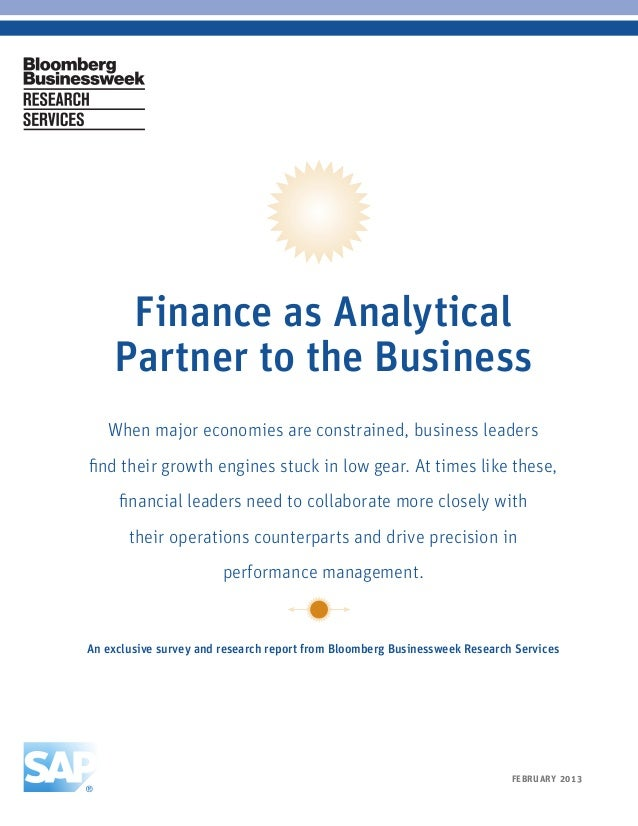 Finance as Analytical          Partner to the Business         When major economies are constrained, business leaders     ...