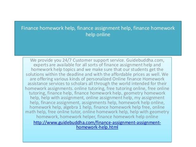 Free finance homework help