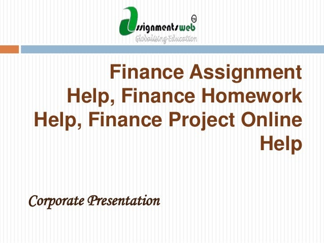 No. 1 Finance Homework Help website on internet