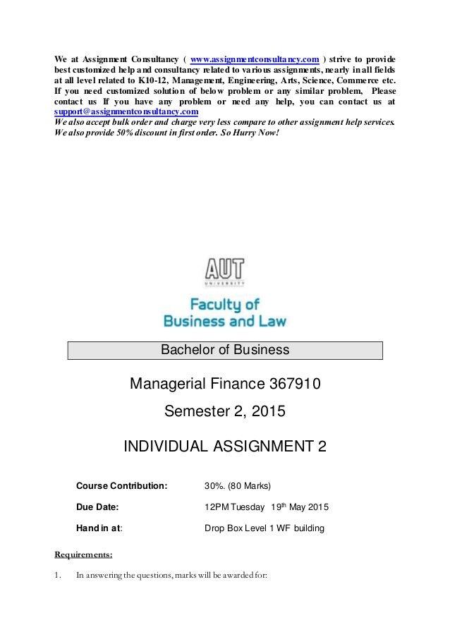 Finance Assignment | Corporate Finance Assignment Help | Finance ...