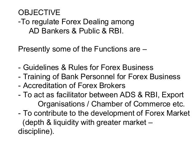 Accreditation of forex brokers