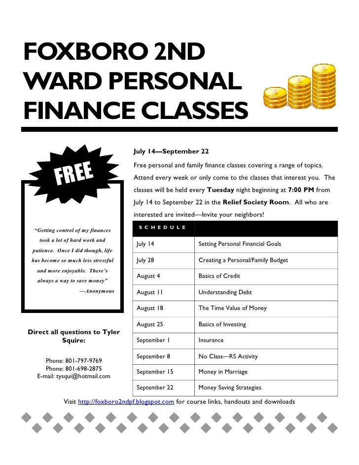 Finance Classes