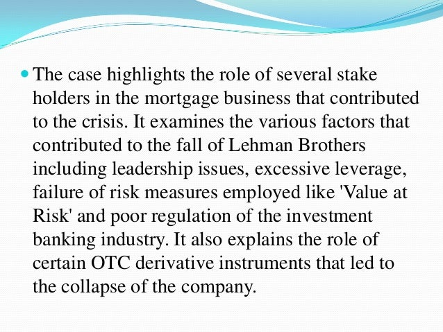banking industry meltdown the ethical and financial risks of derivatives Derivatives may not be a financial instrument that the average investor wants to try on her own, but derivatives can add value to society when used appropriately and in moderation regardless, it's useful to understand them, and know their risks and benefits.