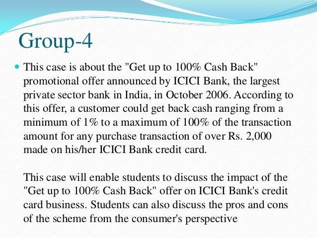 Case study based group discussion icici credit