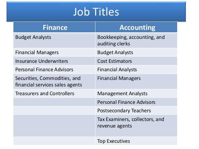 Finance Degree vs Accounting Degree