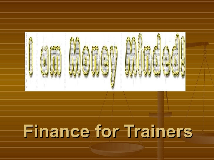 Finance for Trainers