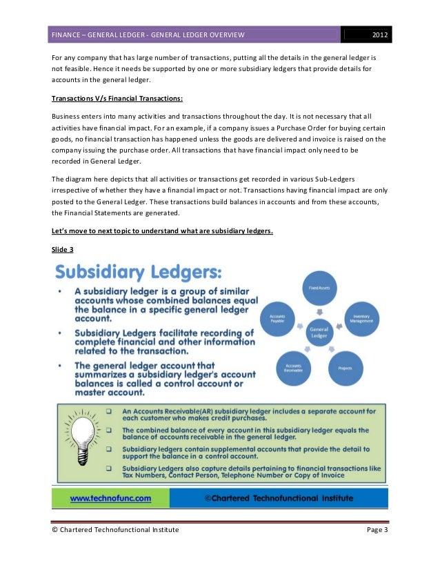 Finance - General Ledger Overview Slide 3
