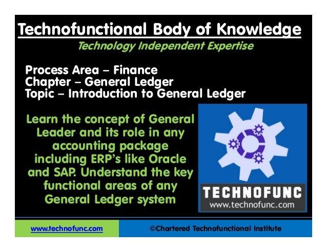 Technofunctional Body of Knowledge©Chartered Technofunctional InstituteProcess Area – FinanceChapter – General LedgerTopic...