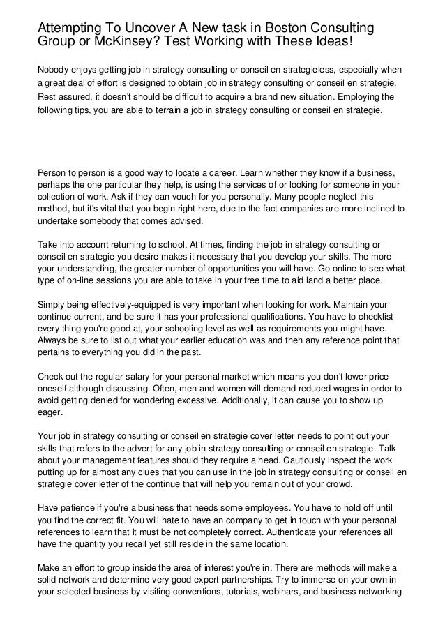 boston consulting group cover letter sample - Elim ...