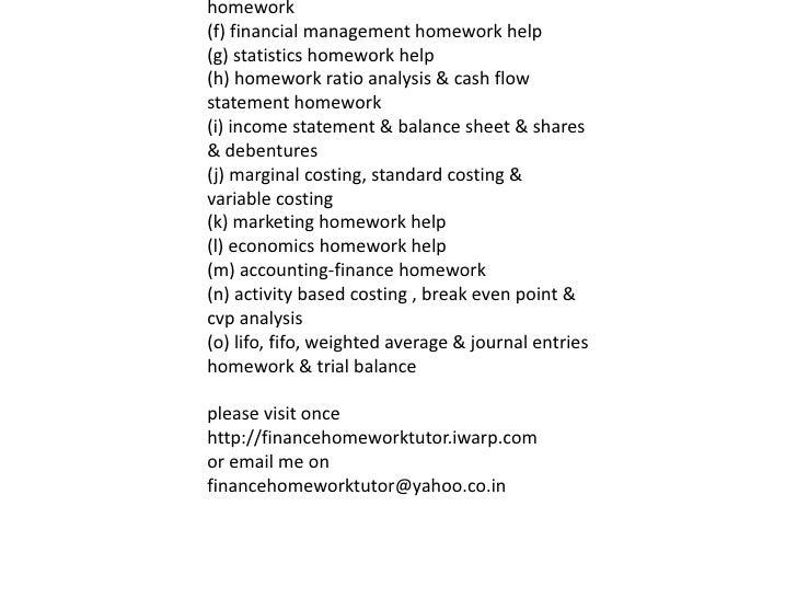 Help with writing homework