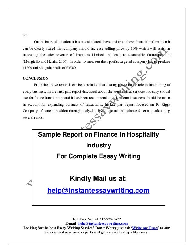 Good English Essays Examples Finance Essay Writing Sample On Finance In Hospitality Industry By  The Yellow Wallpaper Essay also Health Insurance Essay Finance Essay Writing  Underfontanacountryinncom English As A Second Language Essay