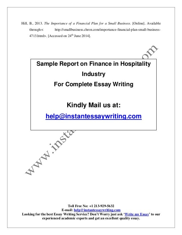 business essays hospitality services industry Our services include essays, term the type of hospitality business you your selected segment of the hospitality industryassess your current.