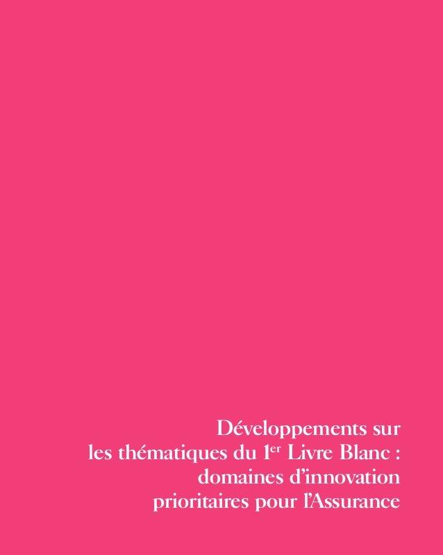 Développements sur les thématiques du 1er Livre Blanc : domaines d'innovation prioritaires pour l'Assurance inte?rieur liv...