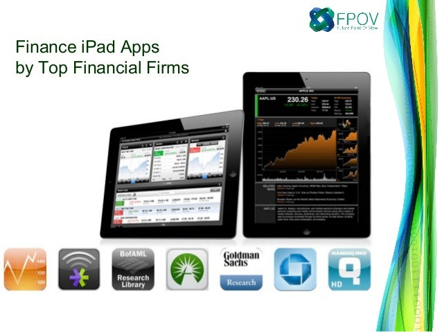 Finance iPad Appsby Top Financial Firms