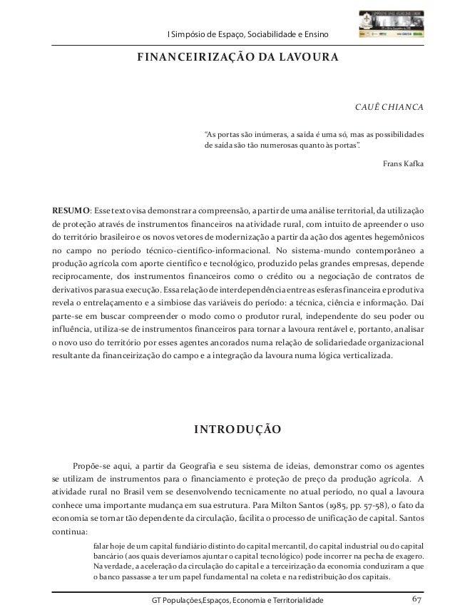GT Populações,Espaços, Economia e Territorialidade GT Populações,Espaços, Economia e Territorialidade I Simpósio de Espaço...