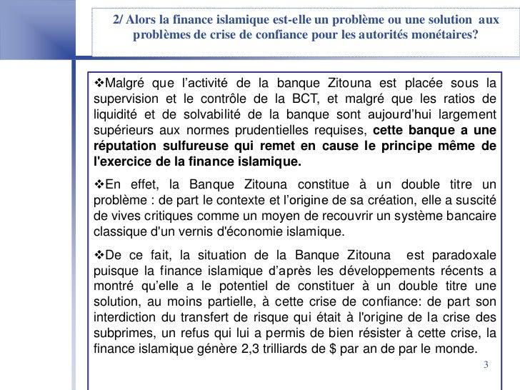 Finance Islamique En Tunisie  Cas De La Banque Zitouna Slide 3