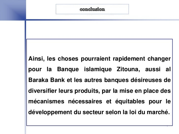 Finance islamique en tunisie cas de la banque zitouna - Banque chaabi credit islamique ...