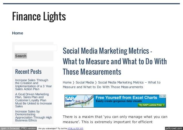 social media marketing metrics pdf