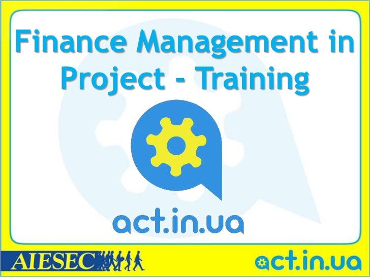 Finance Management in   Project - Training