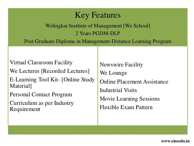 Distance MBA in Finance Management from Welingkar ...