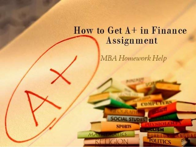 Finance Assignment Trends MBA 2014-2015