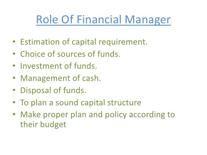 role financial manager essays October 2011 | 2000 aniel island rive, charleston, sc 29492 t 8004439441 e solutionsblackbaudcom w wwwblackbaudcom 2 financial management of not-for-profit organizations.
