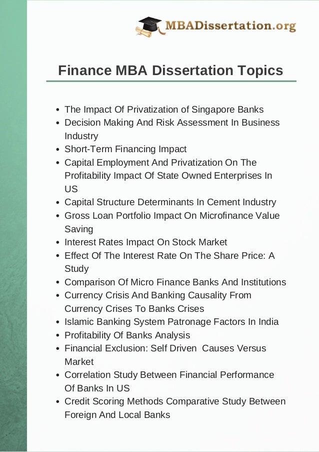 Finance essay topics