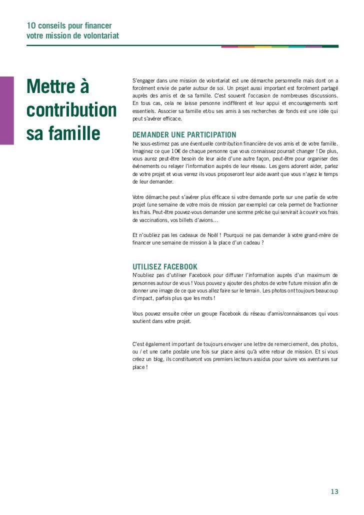 Financement Mission Volontariat Humanitaire